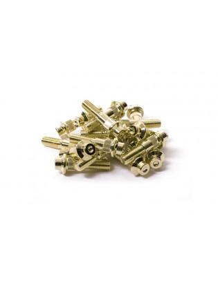 M7 x 30 Gold Felgenschraube...