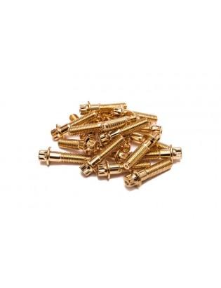 M8 x 32 Gold Felgenschraube Stahl Außenvielzahn