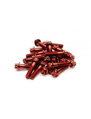 M8 x 32 Rot Felgenschraube Stahl Außenvielzahn