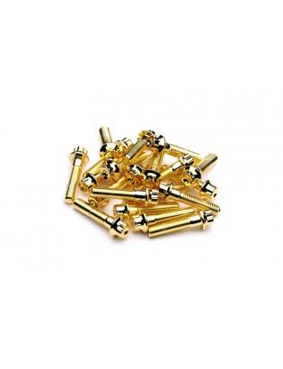 M6 x 32 Gold Felgenschraube...